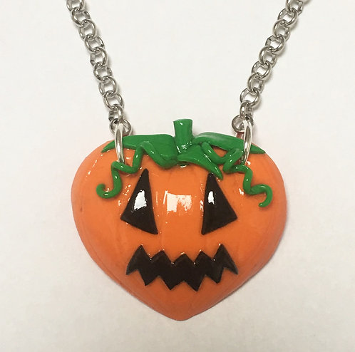 Pumpkin heart necklace