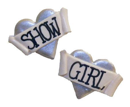 Show Girl 2D heart studs