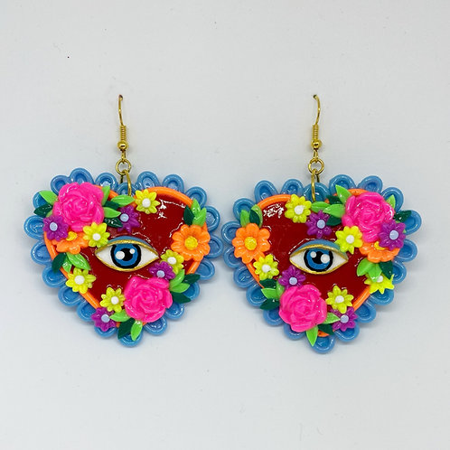 Floral Eye Statement Earrings