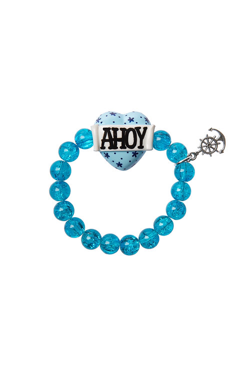 Ahoy heart stretch bracelet