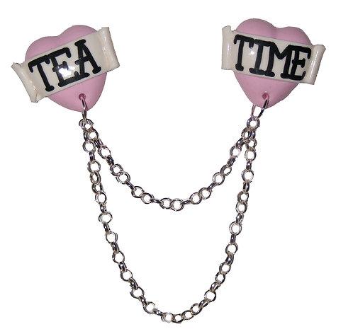 Tea Time collar clips