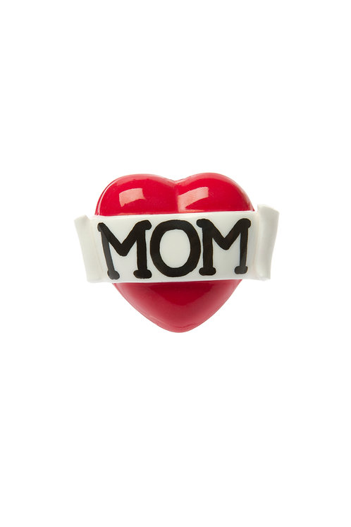 Mom single heart ring