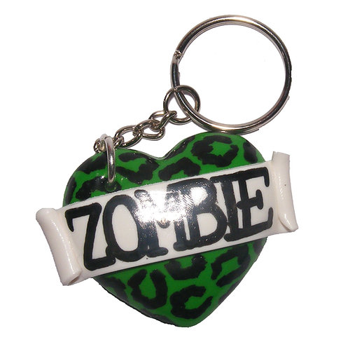 Zombie heart keyring