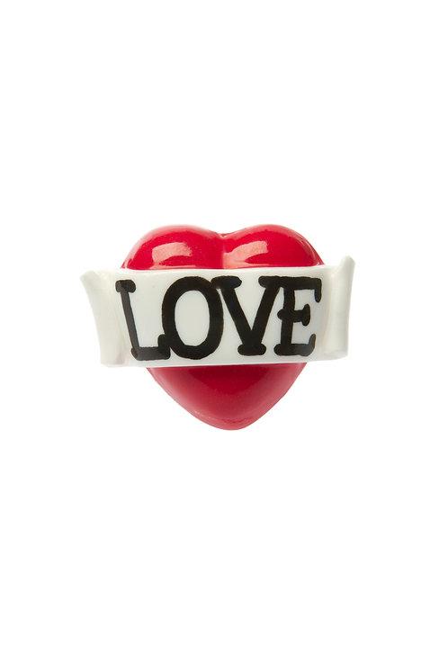 Love single heart ring