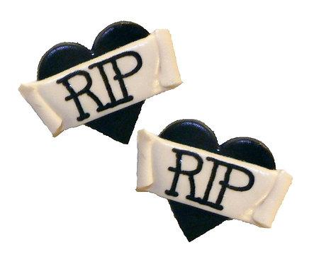 RIP 2D heart studs