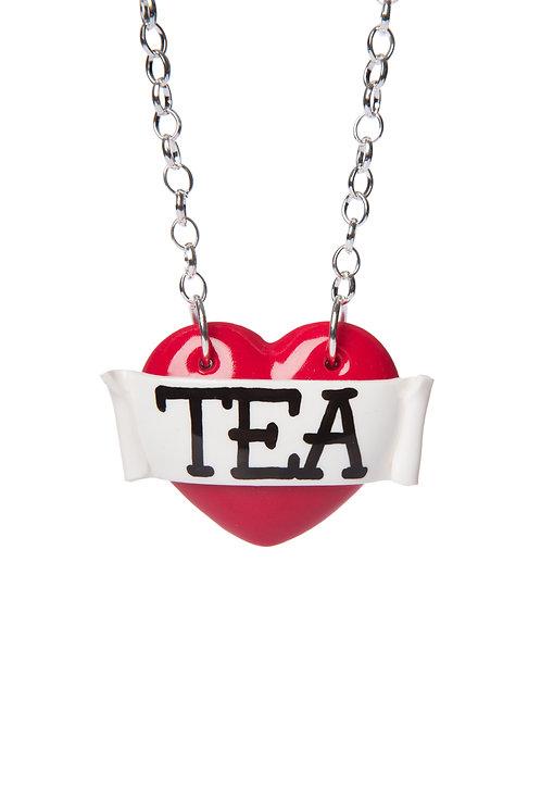 Tea single heart necklace
