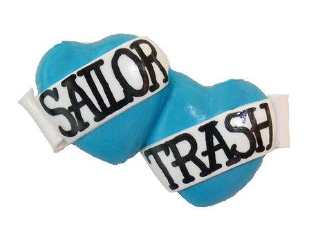 Sailor Trash small double heart barrette