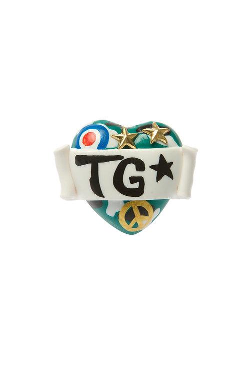 Tank Girl single heart ring