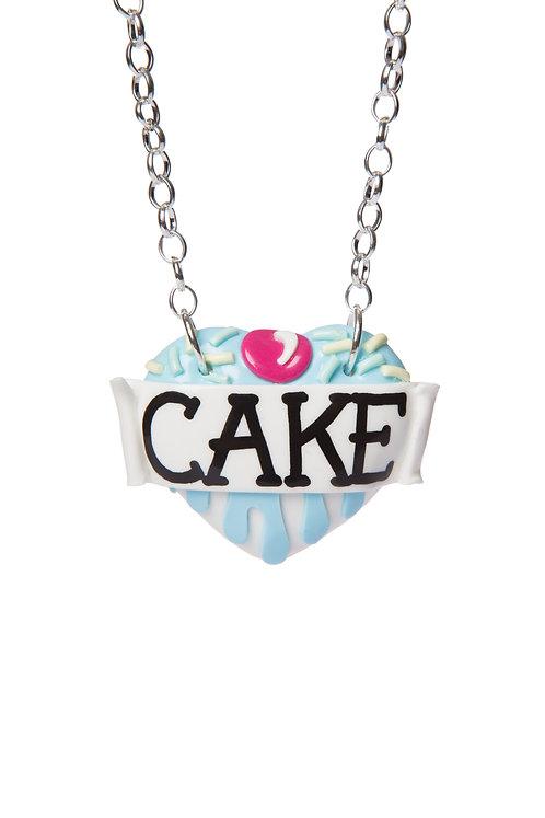 Cake single heart necklace