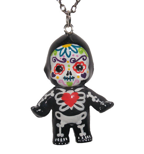 Sugar skull Kewpie necklace