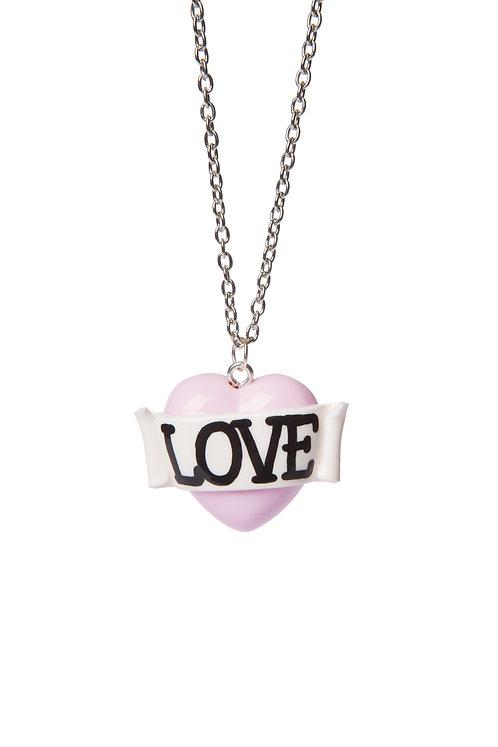 Love mini single heart necklace