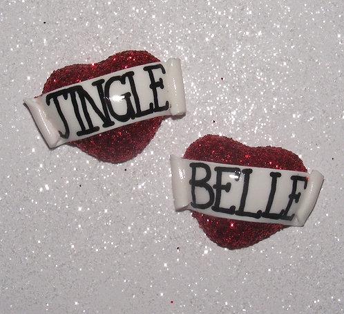 Jingle Belle 3D heart studs