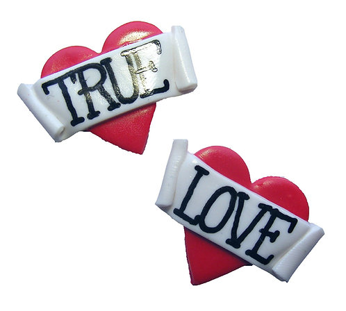 True Love 2D heart studs