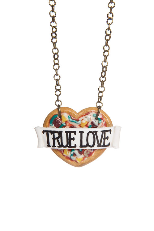 True Love Pizza My Heart necklace