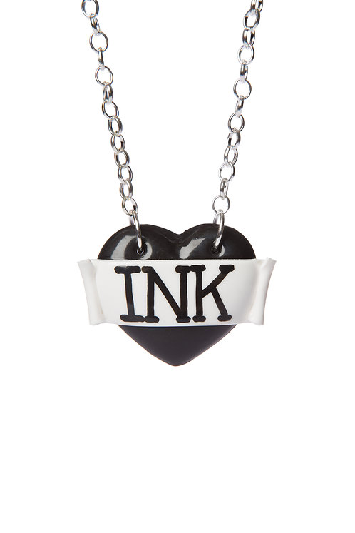 Ink single heart necklace