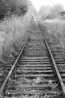 Railway Frost B&W