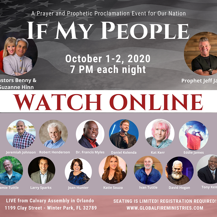 ONLINE If My People  - Prayer for our Nation Event