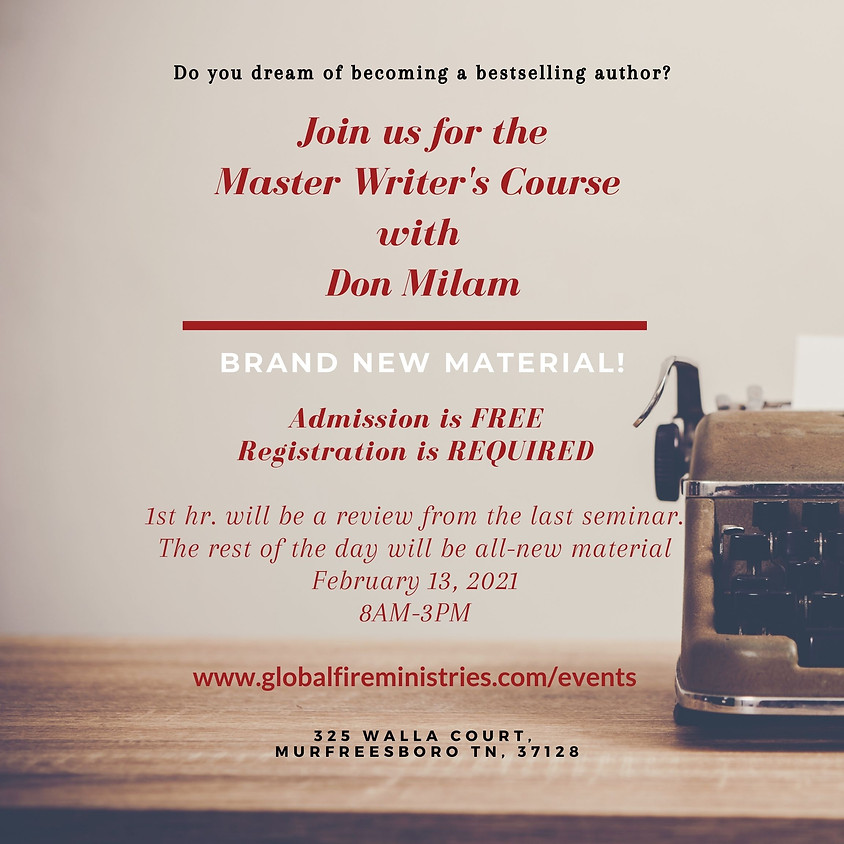 Master Writers Seminar