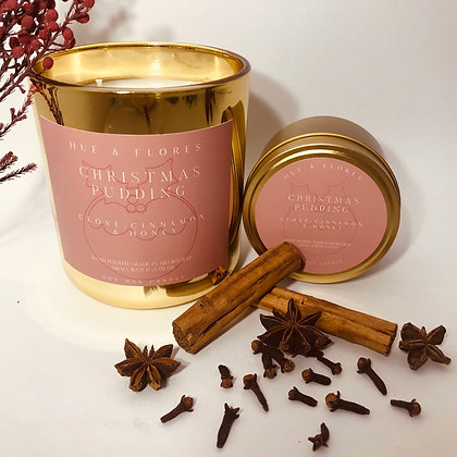 CHRISTMAS PUDDING |  Limited edition festive soy wax candle