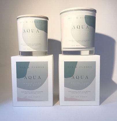 A Q U A | White sand sea salt soy wax candle