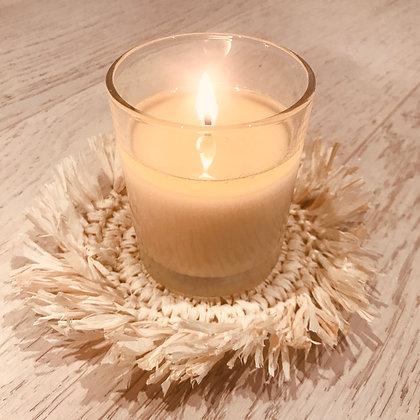 Natural Rattan candle coaster