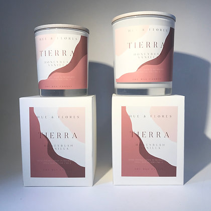 T I E R R A | Honeybush vanilla soy wax candle