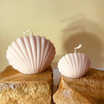CLEO | clam shell sculptured candle