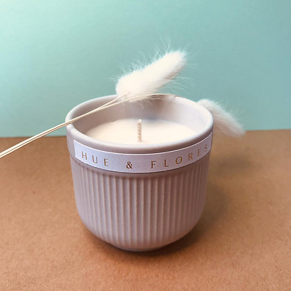 Ceramic egg cup candle