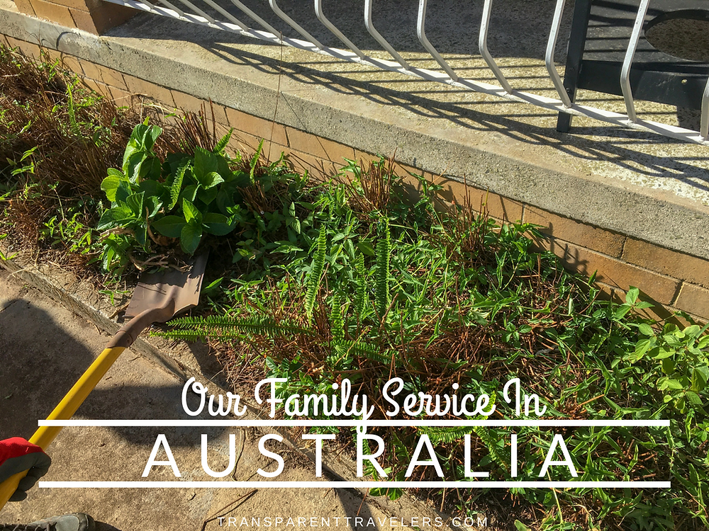 Our Family Service in Australia with the Transparent Travelers at www.transparenttravelers.com