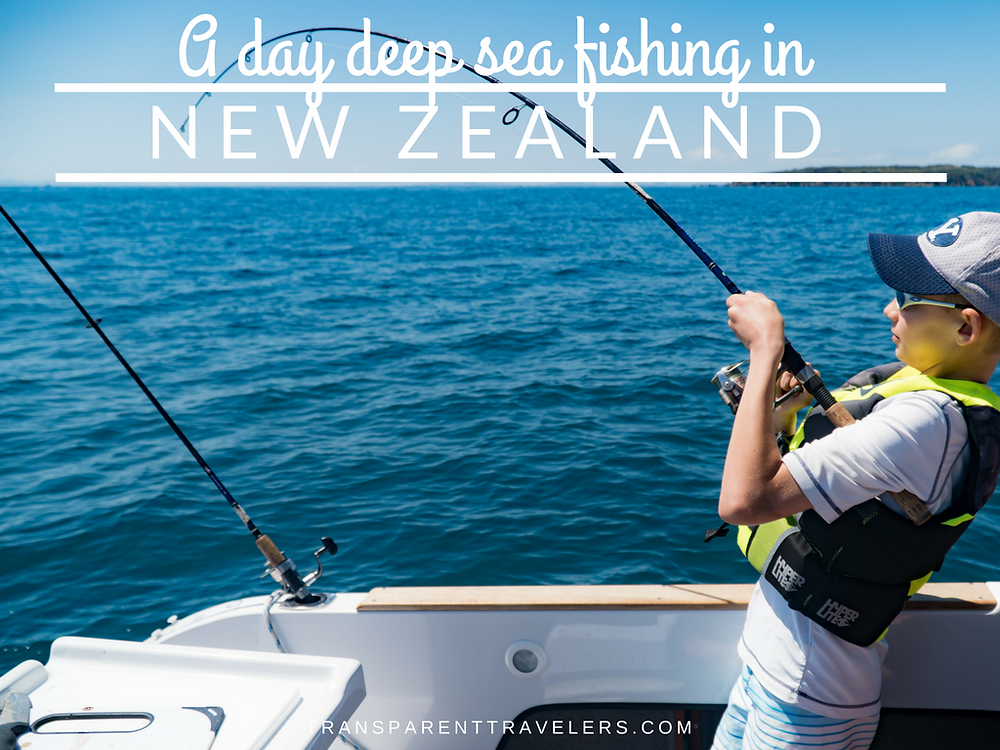 A Day Deep Sea Fishing in New Zealand with the Transparent Travelers at www.transparenttravelers.com