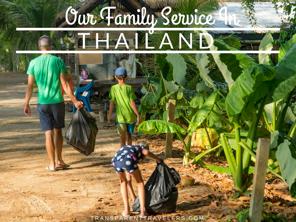 Our Family Service in Thailand with the Transparent Travelers at www.transparenttravelers.com
