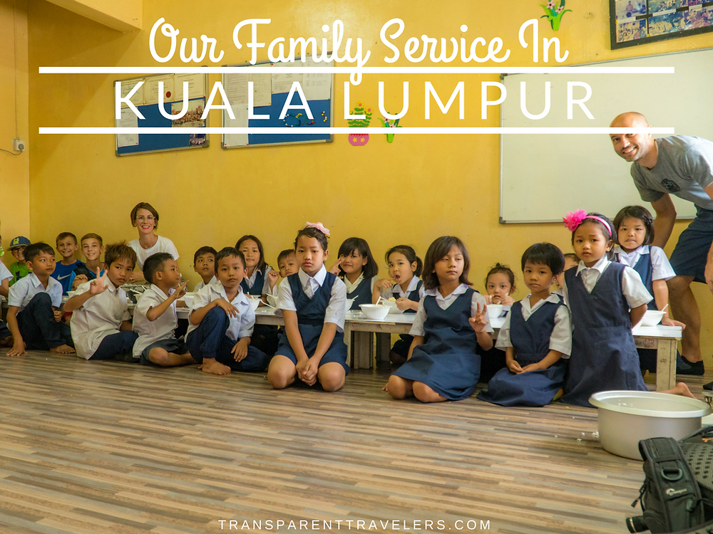 Our Family Service in Kuala Lumpur with The Transparent Travelers at www.transparenttravelers.com