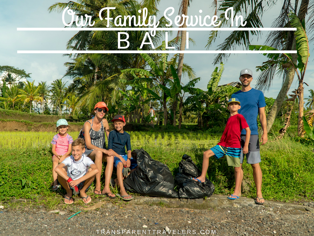 Our Family Service in Bali with the Transparent Travelers at www.transparenttravelers.com