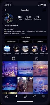 instagram business The secret society.pn