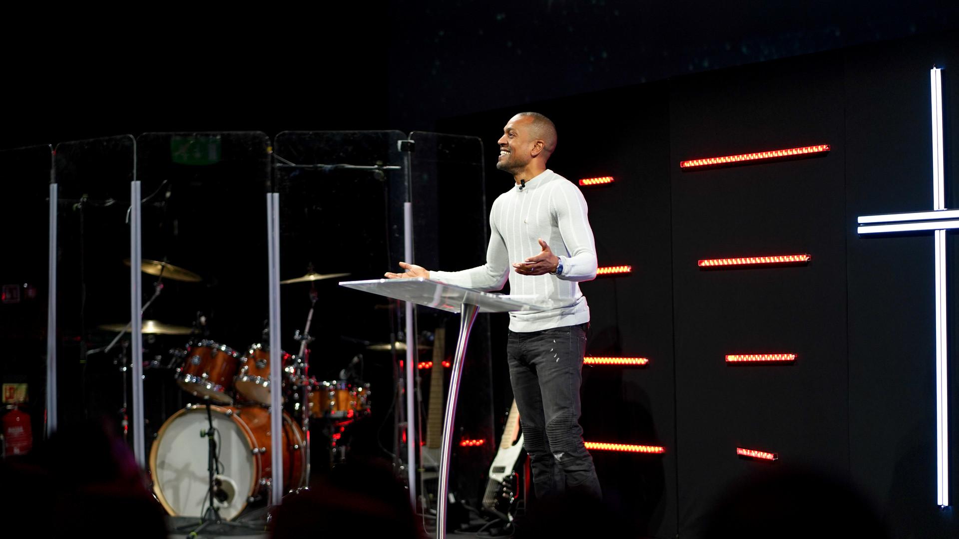 Preaching at Jubilee Church London, Enfield
