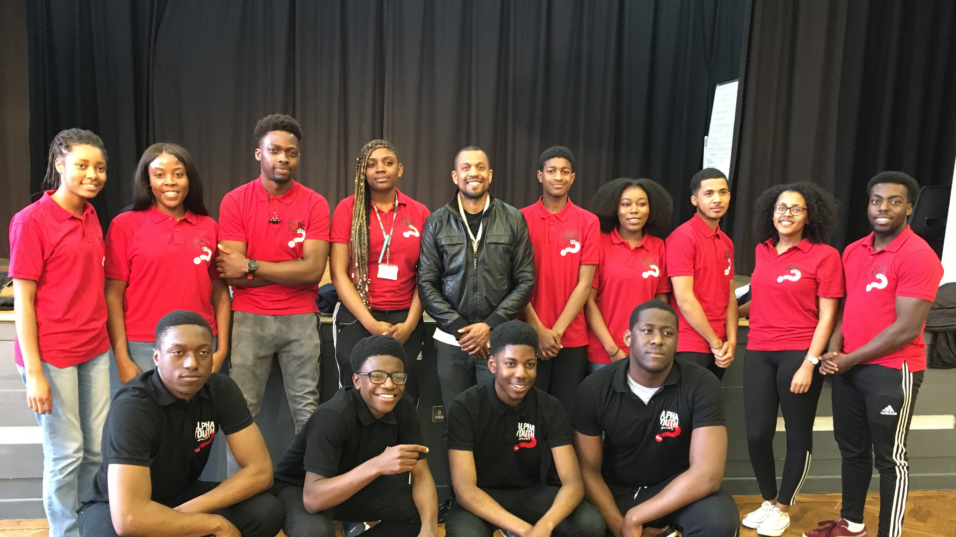 Leo and the Youth Alpha team, Chace Community School, Enfield