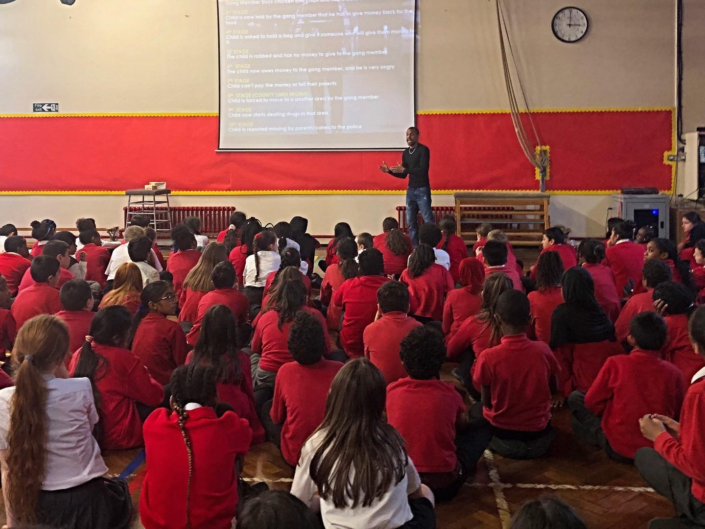 County Lines Assembly to year 5 & 6, Honilands Primary School, Enfield