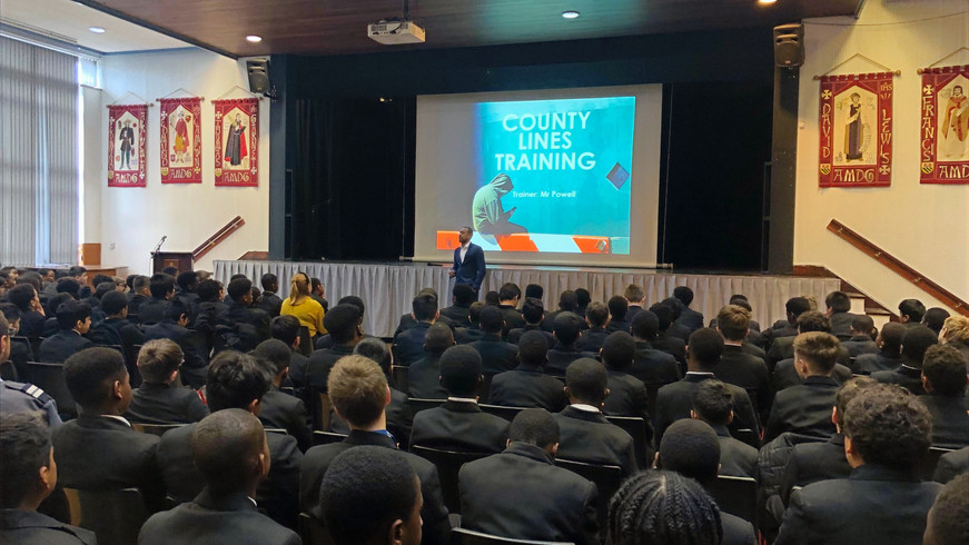 County Lines Assembly, St Ignatius College, Enfield
