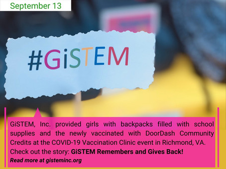 GiSTEM Remembers and Gives Back!