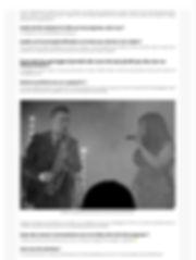Interview de Stéphane Colin saxophoniste et Miss Dominique