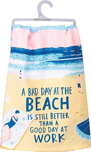 Dish Towel -Bad Day at Beach