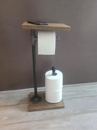 Standing TP w/Shelf and Spare Holder