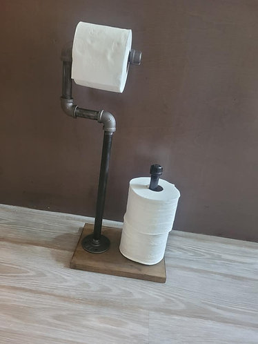 Standing C-Toilet Paper Holder w/Spare