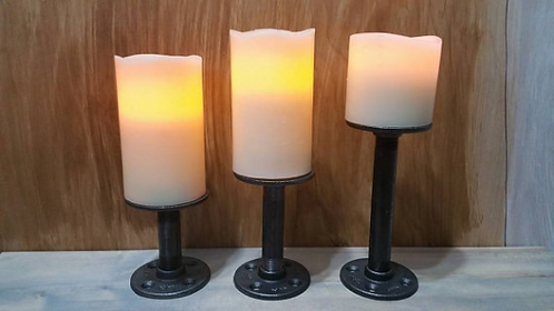 """Pipe Candle Holder - 2"""" and up"""