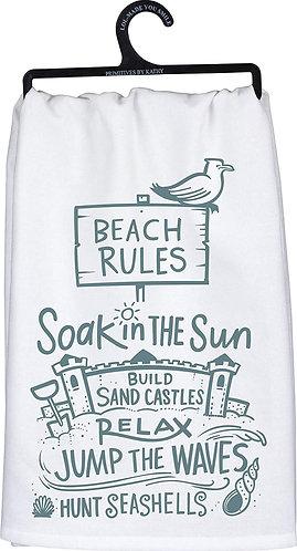 Dish Towel - Beach Rules
