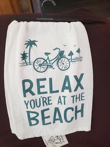 Dish Towel - Relax... at Beach
