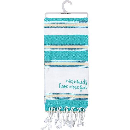 Dish Towel - Mermaids have more fun 20x28