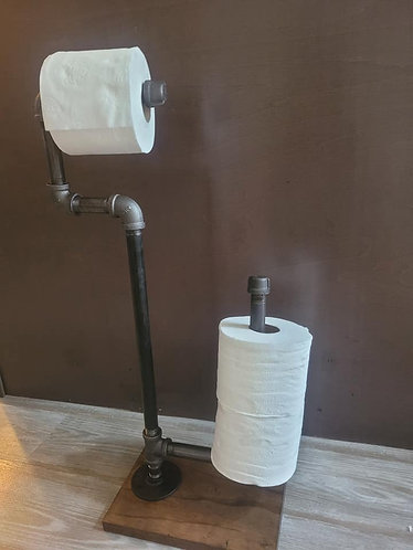 Standing C-Toilet Paper Holder w/L-Spare