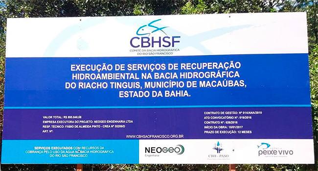 Cidadã questiona execução de obra de recuperação dos Tinguis orçada em quase 900 mil