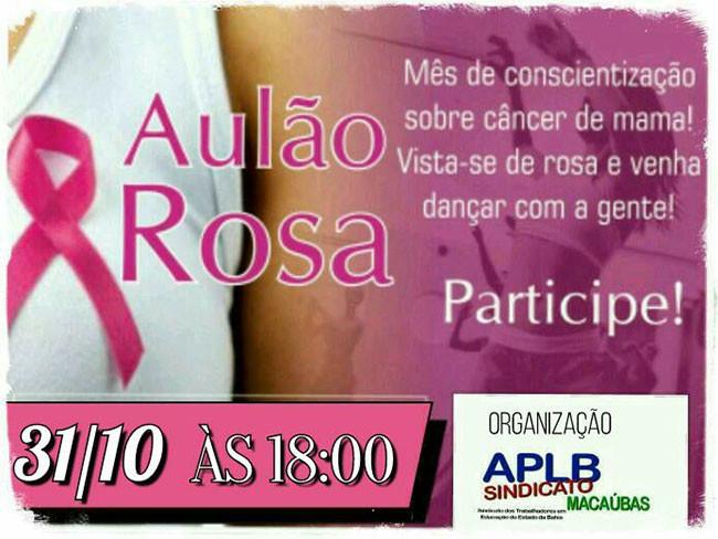 APLB Macaúbas promoverá Aulão Rosa